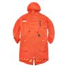 TRIANGLE OVERSIZED FISHTAIL PARKA ORANGE