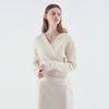V-NECK WRAP KNIT IVORY