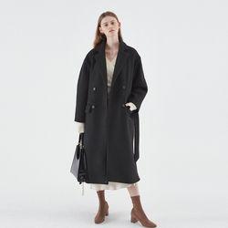 WOOL PUFF DOUBLE COAT BLACK
