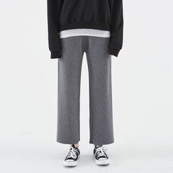 [예약배송/25일순차발송] KNIT WIDE BANDING PANTS GRAY