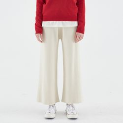[예약배송/25일순차발송] KNIT WIDE BANDING PANTS IVORY