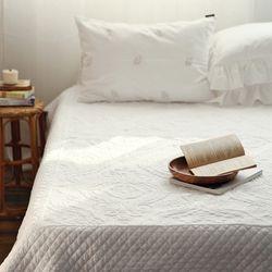 마리앤 화이트 퀼팅 침대패드 카페트SS