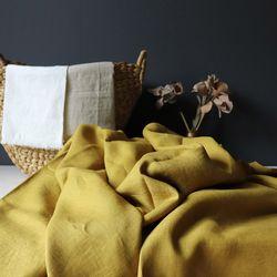 [Fabric] 백마포 머스터드 - 퓨어린넨 캔버스