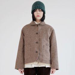 shepherd check wool jacket (beige)