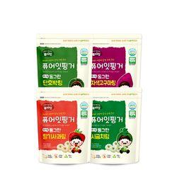 핑거 유기농 동그란 야채링 4종세트