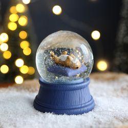 크리스마스 펫 스노우볼 동물 워터볼 M-잠자는개-막스(MARKS)