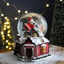 크리스마스 스노우볼 오르골 워터볼L - 산타클로스A -막스(MARKS