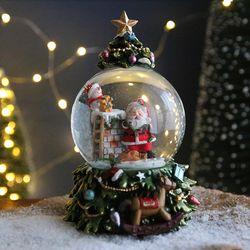 크리스마스트리 스노우볼 오르골 워터볼 L - 산타클로스 - 막스