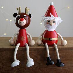크리스마스 장식 소품 순록 산타 나무인형 - 막스(MARKS)