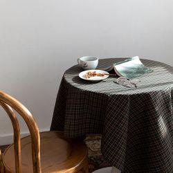온더초코나무숲 식탁보 테이블보 110x110cm 테이블러너
