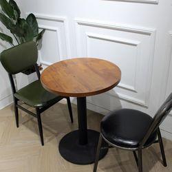 멀바우빈티지카페인테리어디자인 600 원형 테이블