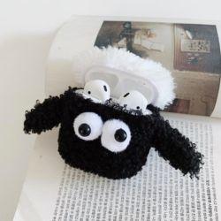 에어팟프로 3세대 캐릭터 뽀글이 양 털 뜨개질 케이스