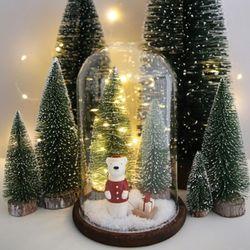LED 크리스마스트리 유리돔 - 썰매 곰