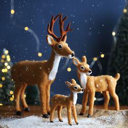 크리스마스 장식 소품 인형 - 사슴가족
