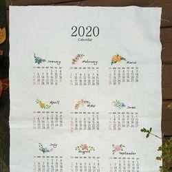 앤쏘라이프 린넨커트지 2020년 달력 커트지 66X43