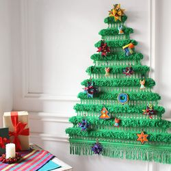 크리스마스 트리배너 그린 라지(L)+오너먼트 세트