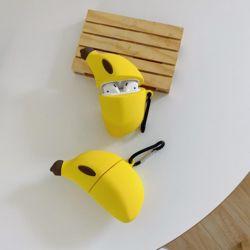 에어팟프로 3세대 바나나 실리콘케이스 고리 키링세트