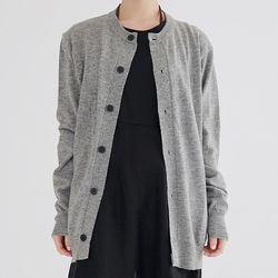 round cashmere cardigan (gray)