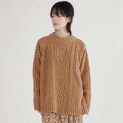 soft cable knit (3colors)