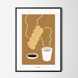 겨울간식2 어묵 M 유니크 인테리어 디자인 포스터 A3(중형)