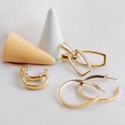 18K GOLD PLATING 비스타 귀걸이 실버 925