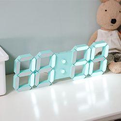 낭랑 마이샤트 LED 무소음 벽걸이 시계 민트 무광블랙