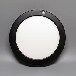 퍼스트 LED 20W 엣지 8인치 원형 센서 주광색 블랙