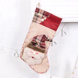 빈티지 크리스마스양말 산타