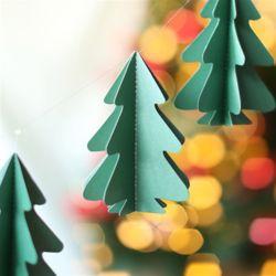 크리스마스 트리 모빌가랜드 (그린)