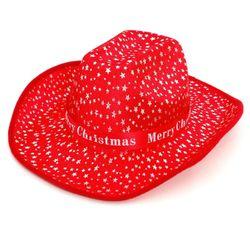 별무늬 크리스마스 카우보이 모자