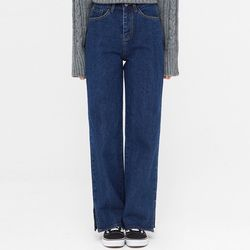 sia slit straight denim pants (s m l)