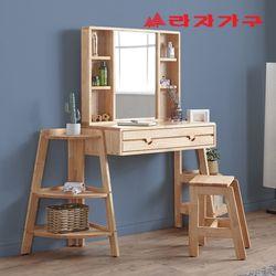 아넥 원목 수납 거울 화장대 B형 + 화장대 의자