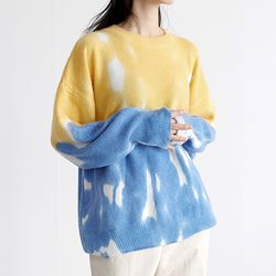 water cloudy knit (2colors)