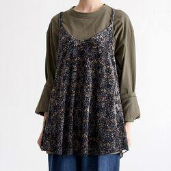 velvet floral slip dress (2colors)