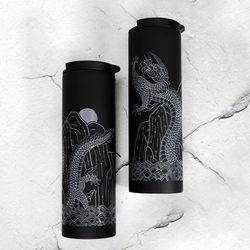 백룡도 흑색 무광 진공 텀블러 500ml