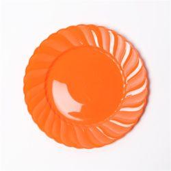 칼라 파티접시 라운드 19cm-오렌지(6입)