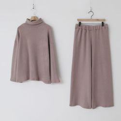 [Set] Soft Turtleneck   Wide Pants