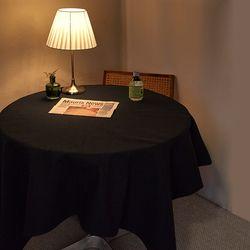 블랭크 블랙 광목 테이블커버 . 식탁보 (2인용 140x140)