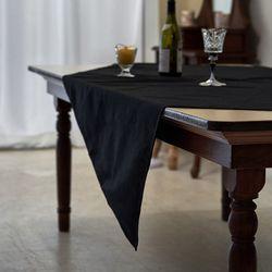 블랭크 블랙 광목 테이블커버 . 식탁보 (4인용 140x160)