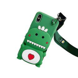아이폰11프로맥스 캐릭터 동물 수납 젤리 케이스 P398