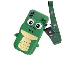 아이폰11 캐릭터 동물 수납 지갑 젤리 케이스 P398
