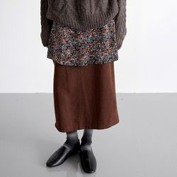 mix texture wool skirts (3colors)