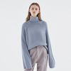 CLOUD HALF NECK KNIT BLUE