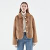 ECO FUR SHORT COAT BEIGE