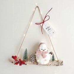 눈사람마을 자작나무 겨울 가랜드(와이어전구50구 추가)