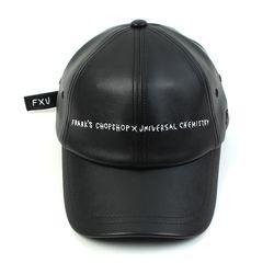 FRANK|@|S CHOPSHOP Collabo Logo Leather Ballcap