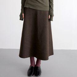 wool tension skirts (brown)