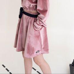 (CTB4) 벨벳 플레어 스커트 핑크