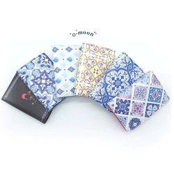 카드지갑 - 포르투갈 타일 패턴