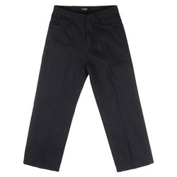 COTTON STRAIGHT PANTS (BLACK)
